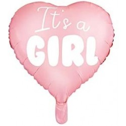 Palloncino Cuore Rosa 45 cm Mylar It's A Girl