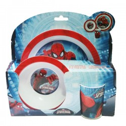Set pappa 3 pezzi melamina ultimate spiderman