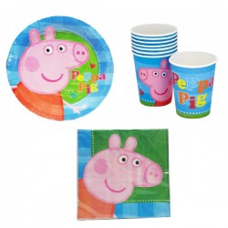Set festa peppa pig3 pz party tavola