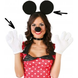 Set orecchie guanti topolino minnie mouse topino