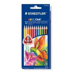 Pastelli matite colorate staedtler noris club 127 triangolari conf. 12 pz