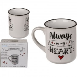 Tazza Always in My Heart Mug Amore 10 cm Ceramica
