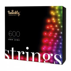 TWINKLY - Serie Luci Albero Natale 600 LEDs Multicolor