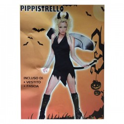 Vestito pipistrello donna costume halloween