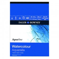 Album Acquerello Watercolour Aquafine Daler Rowney a4 12ff 300g