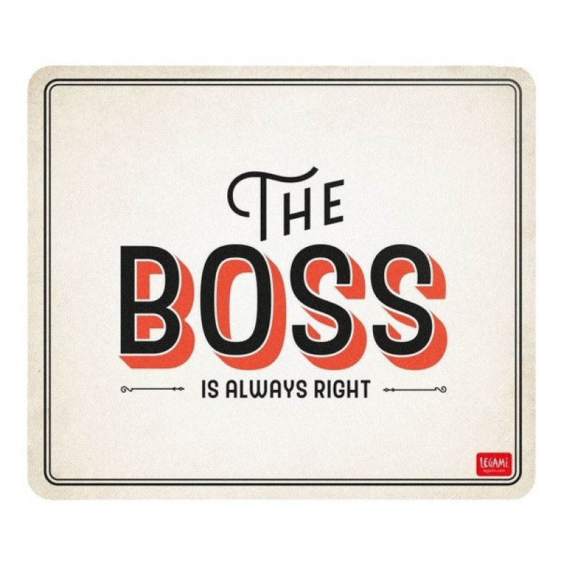 Mousepad tappetino mouse pc legami The Boss