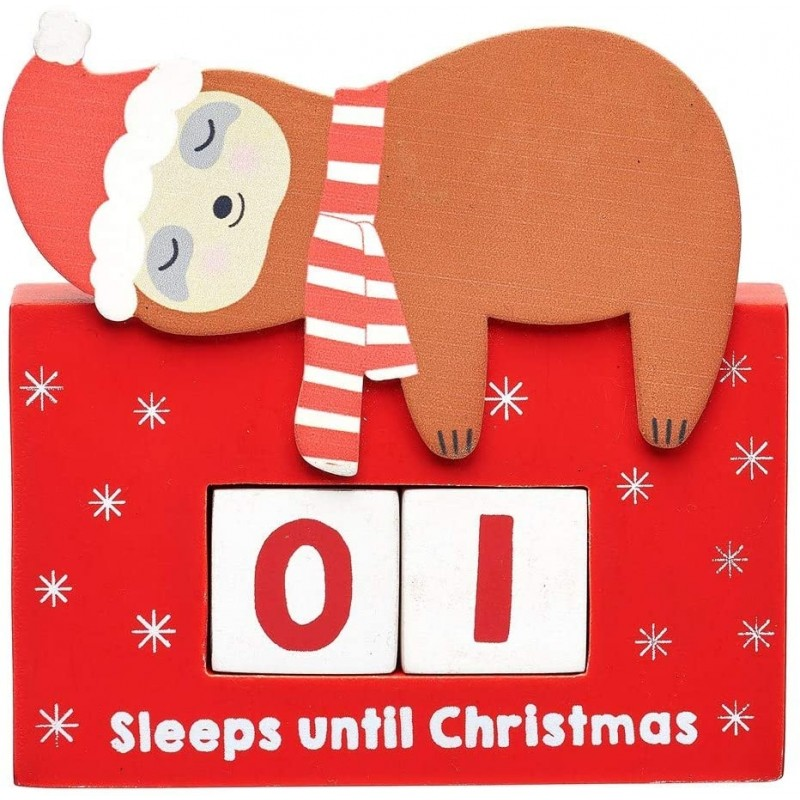 Sass & Belle Sloth Christmas Countdown Blocks