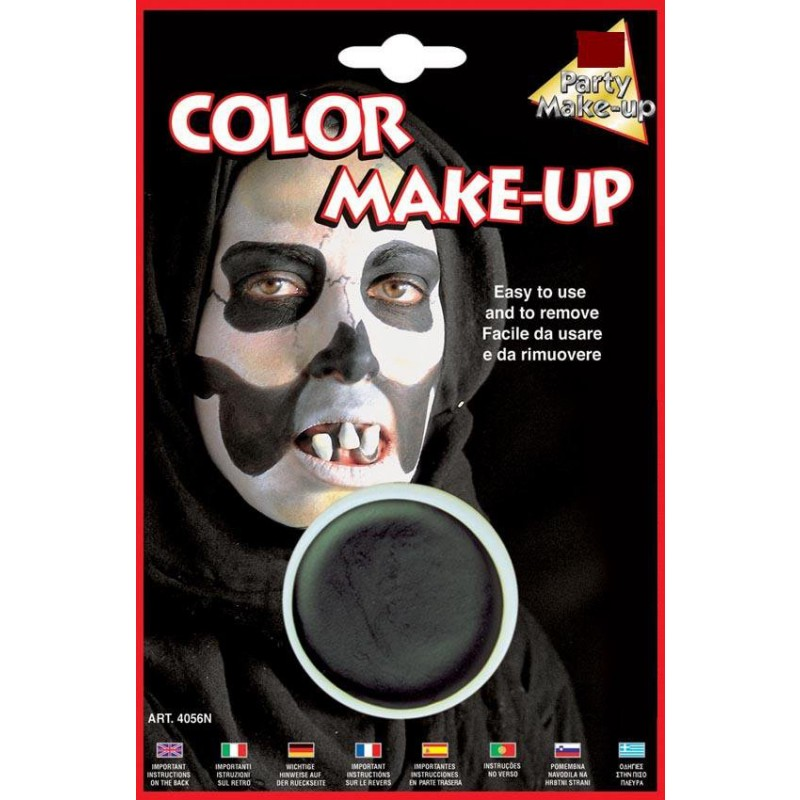 Make up vaschetta cerone trucchi colorati viso nero