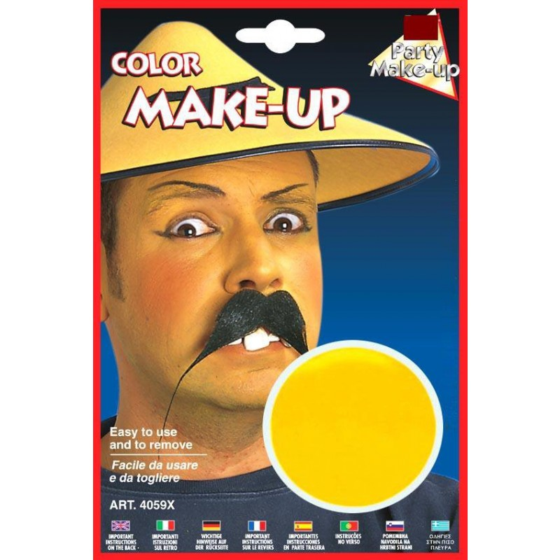 Make up vaschetta cerone trucchi colorati viso giallo