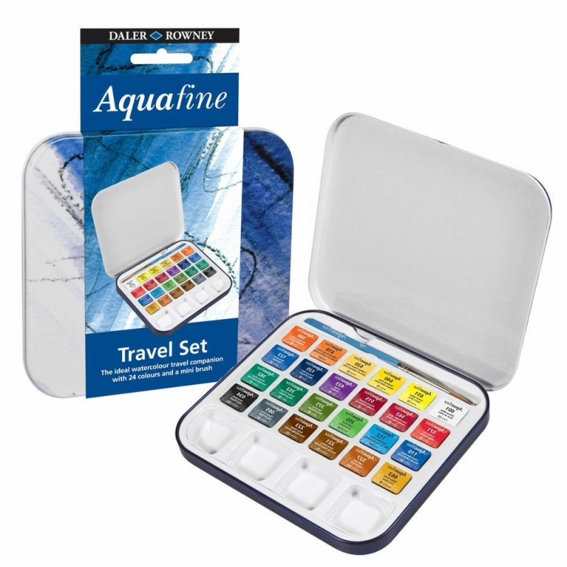 Set Acquerello Aqua Fine Travel Set Daler Rowney 24 Colori