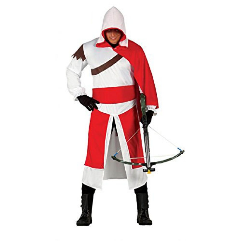 Costume adulto assassino assassins vestito carnevale uomo