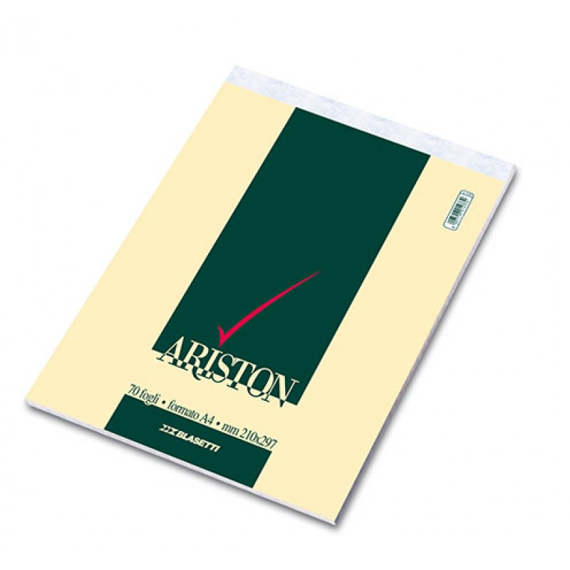 Blocco Notes ariston A4 quadretti 5 mm - 70 fogli
