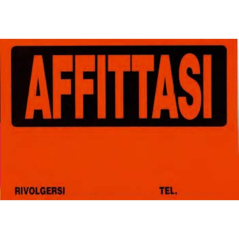 Cartello affittasi in cartoncino fluorescente colori assortiti 25 pz