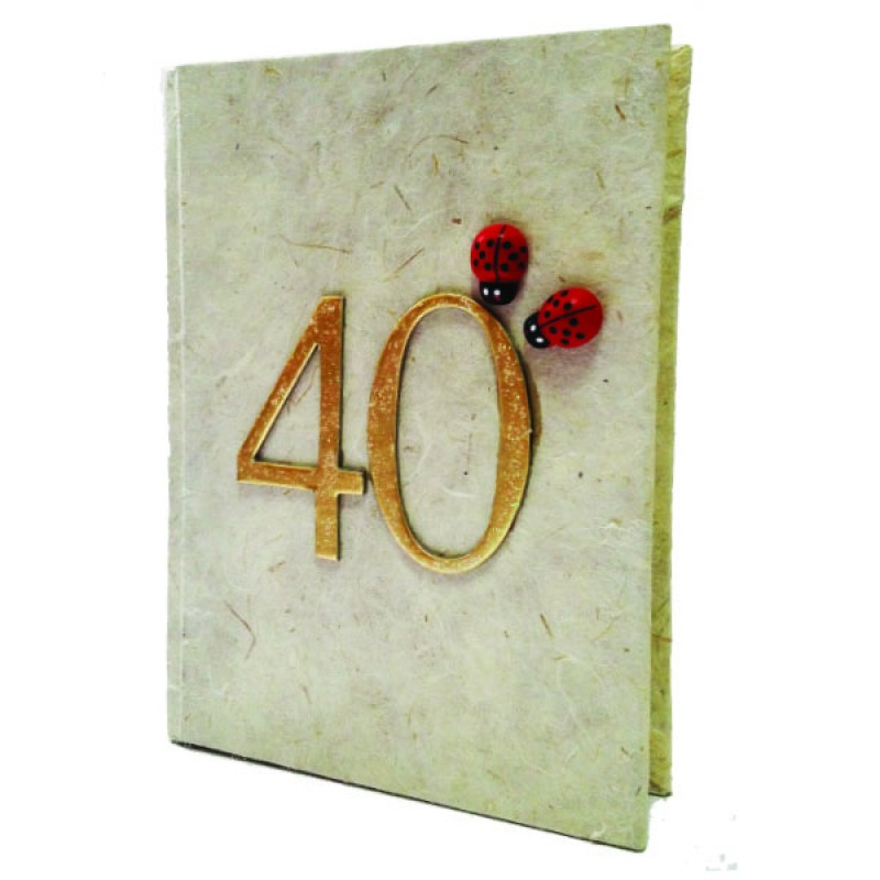 Guest book compleanno 40 anni  13x18 cm