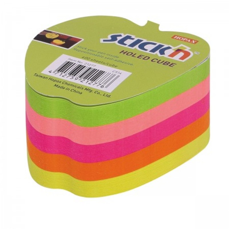 Blocchetto Post It Forma Mela 70x70 mm 225 Fogli Adesivi