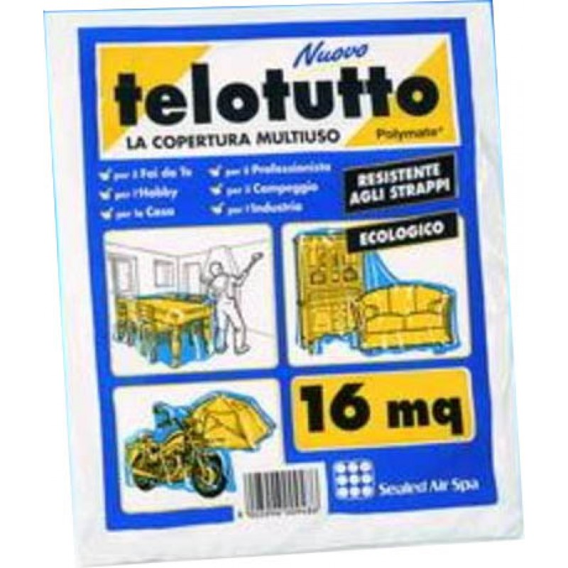 Telo copritutto  pvc sealed air  16 mq